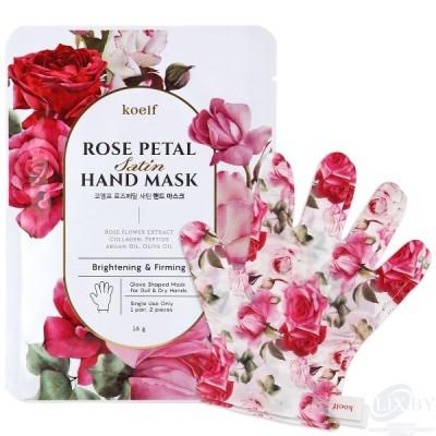 koelf Rose Petal Маска-перчатки для ухода за кожей рук