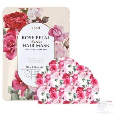 koelf Rose Petal Маска-шапочка для ухода за волосами и кожей головы